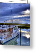 Murrells Inlet Morning Greeting Card by Mel Steinhauer