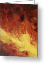 Muse In The Fire 2 Greeting Card by Sharon Cummings