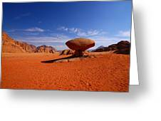 Mushroom Rock Greeting Card by FireFlux Studios