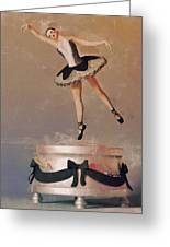 Music Box Ballet Dancer Greeting Card by Liam Liberty