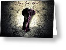Music Gives Back - Open Your Heart Greeting Card by Caio Caldas -