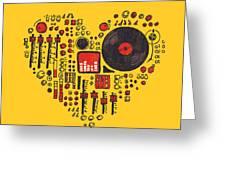 Music In Every Hearbeat Greeting Card by Budi Satria Kwan