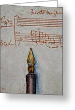 Music Greeting Card by Michael Creese
