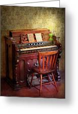 Music - Organist - Playing The Songs Of The Gospel  Greeting Card by Mike Savad