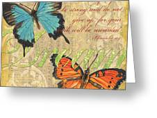 Musical Butterflies 1 Greeting Card by Debbie DeWitt
