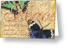 Musical Butterflies 2 Greeting Card by Debbie DeWitt