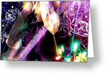 Musical Lights Greeting Card by Mechala  Matthews