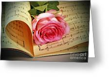 Musical Rose Greeting Card by Inspired Nature Photography By Shelley Myke