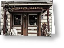 Mustang Sally's Greeting Card by Ron Regalado