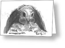 My Baby Bunny Greeting Card by Laurie D Lundquist