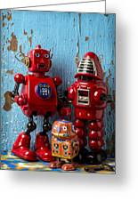 My Bots Greeting Card by Garry Gay