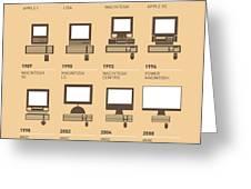 My Evolution Apple mac minimal poster Greeting Card by Chungkong Art