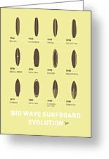 My Evolution Surfboards Minimal Poster Greeting Card by Chungkong Art