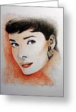 My Fair Lady - Audrey Hepburn Greeting Card by William Walts