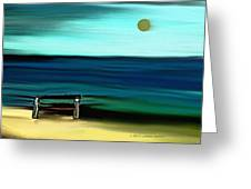 My Father's Bench Greeting Card by Lenore Senior