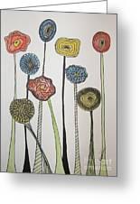 My Garden Greeting Card by Marcia Weller-Wenbert
