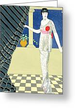 My Guests Have Not Arrived Greeting Card by Georges Barbier
