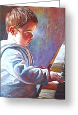 My Little Mozart Greeting Card by Lynda Robinson