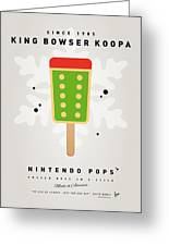 My Nintendo Ice Pop - King Bowser Greeting Card by Chungkong Art