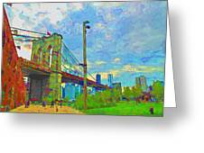 My Ny Minute Greeting Card by Barbara McDevitt