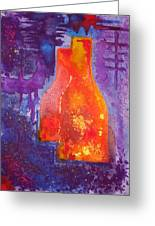 My Old Wine Bottles Greeting Card by Mario  Perez