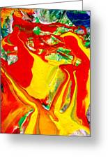 My Paintings Scream Greeting Card by Bruce Combs - REACH BEYOND