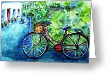My Red Bike  Greeting Card by Trudi Doyle