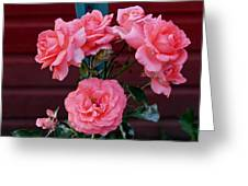 My Rose Garden Greeting Card by Victoria Sheldon
