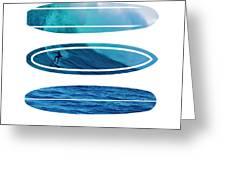 My Surfspots poster-2-Mavericks-California Greeting Card by Chungkong Art
