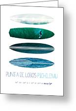 My Surfspots Poster-3-punta De Lobos-chile Greeting Card by Chungkong Art
