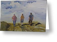 My Three Boys Greeting Card by Ramona Kraemer-Dobson