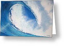 My Wave Greeting Card by Jeff Lucas