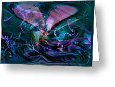 Mysteries Of The Universe Greeting Card by Linda Sannuti