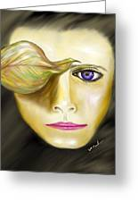 Mysterious Woman Greeting Card by William  Paul Marlette
