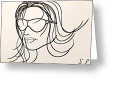 Mystery Woman Greeting Card by Sotiris Filippou