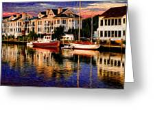 Mystic Ct Greeting Card by Sabine Jacobs