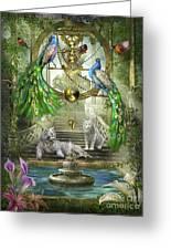 Mystic Garden Greeting Card by Ciro Marchetti