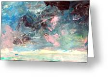 Mystic Skies Of Winter Greeting Card by Trilby Cole