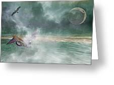 Mystical Beach Greeting Card by Betsy A  Cutler