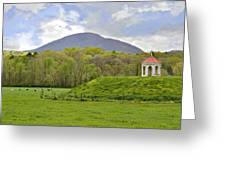 Nacoochee Indian Mound Greeting Card by Susan Leggett