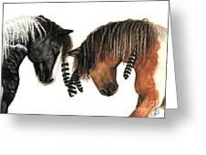 Mustang Series 37 Greeting Card by AmyLyn Bihrle
