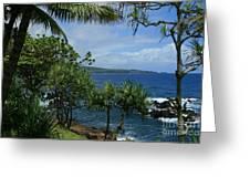 Nahiku Kaelua Honolulunui Bay Maui Hawaii Greeting Card by Sharon Mau
