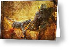 Nailed To The Cross Via Dolorosa 11 Greeting Card by Lianne Schneider