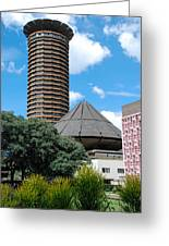 Nairobi Kenya Skyline Greeting Card by Robert Ford