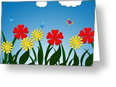 Naive Nature Scene Greeting Card by Gaspar Avila