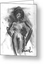 Naked Beauty Greeting Card by Laurie D Lundquist