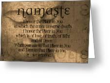 Namaste Orange Greeting Card by Dan Sproul