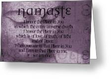 Namaste Pink Greeting Card by Dan Sproul