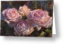 Nana's Roses Greeting Card by Karen Whitworth
