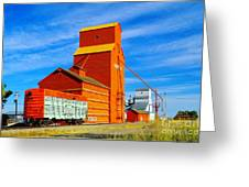 Nanton Grain Elevators  Greeting Card by Jeff  Swan